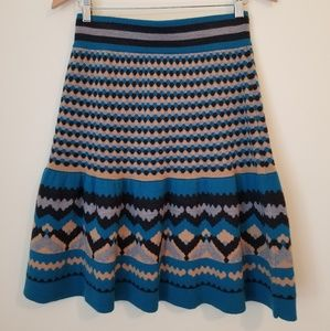 Anthropologie merino wool fit & flare skirt